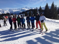 'The Lawless Boys', Keenans & Alastair with Mont Blanc in the background. Best day on the slopes this Winter so far!!