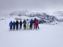 The trad foto under the 'Dents du Midi' during the PDS tour