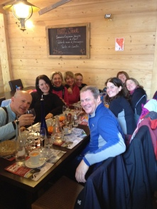 Followed by a fab lunch at Chez Flo - Alison's girls joined us & loved the digestifs!!