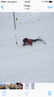 Apparently my ski brought Tim down - saved me ages trying to find it!