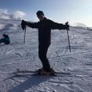 After a great day - the girls decide to break my ski poles. V Unfair I felt!!